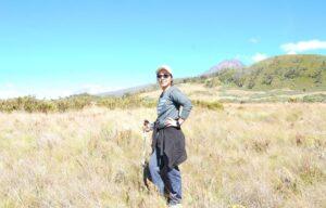 Trekking 0ldonyo lengai during Safari
