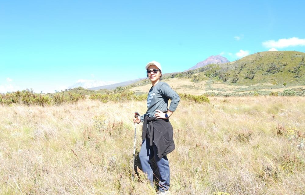 Trekking 0ldonyo lengai during Safari